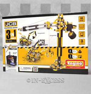 Photo of Engino JCB Tall Crane Motorized 3-in-1 Construction Set  Front