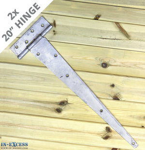 "2x 500mm (20"") Gate Shed Door Tee Hinge - Galvanised X-H015"