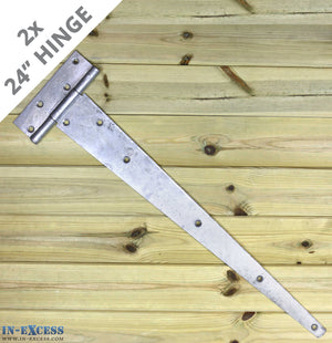 "2x 600mm (24"") Gate Shed Door Tee Hinge - Galvanised X-H016"