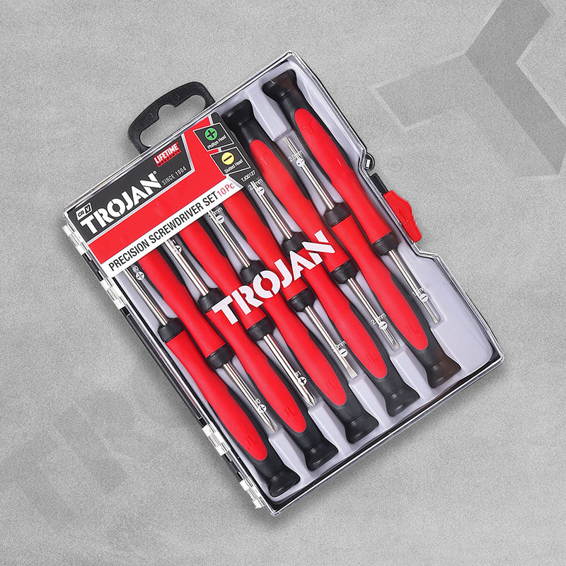 Trojan - Precision Screwdriver Set 10 Pieces