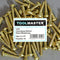 Toolmaster Roundhead Slotted Brass Wood Screw 6 x 3/4