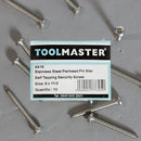 Toolmaster Stainless Steel Panhead Pin Star Self Tapping Security Screw 8 x 1 1/2