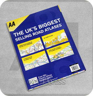AA Easy Read Atlas France 2019 Planner Larger Scale Mapping