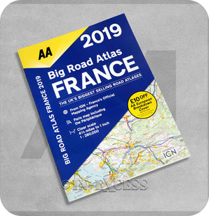 AA Big Road Atlas France 2019 Planner Larger Scale Mapping