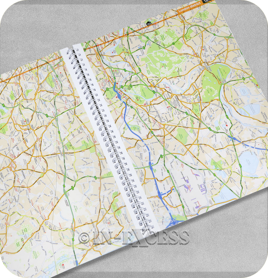 AA Concise Road Atlas Britain 2019 Road Map Planner Scale Mapping