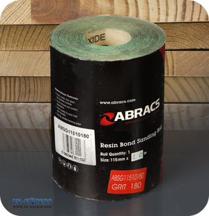 Abracs Resin Bond Sanding Roll 115mm x 10m Grit 180