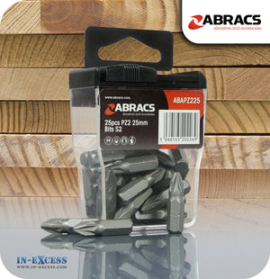 Abracs Premium Steel PZ2 Drill Bit Set 25mm - Pack of 25
