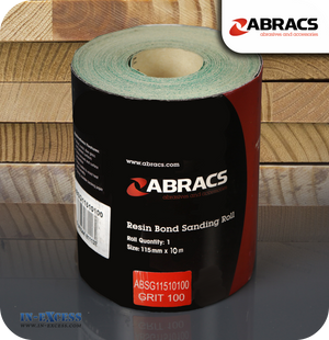 Abracs Resin Bond Sanding Roll 10 Metres - 100 Grit