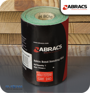 Abracs Resin Bond Sanding Roll 10 Metres - 240 Grit