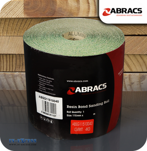 Abracs Resin Bond Sanding Roll 10 Metres - 40 Grit