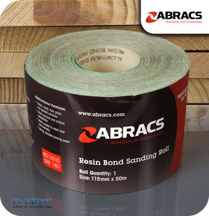 Abracs Resin Bond Sanding Roll 50 Metres - 180 Grit