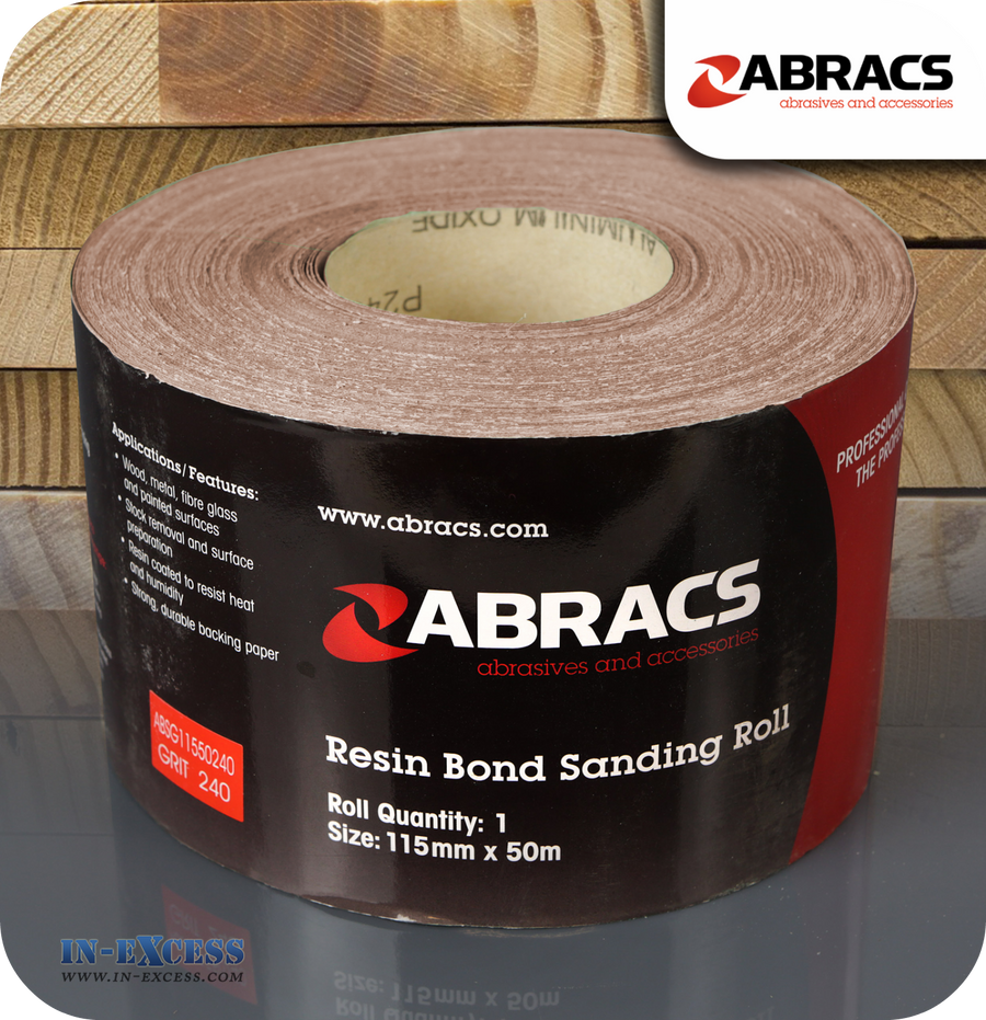 Abracs Resin Bond Sanding Roll 50 Metres - 240 Grit