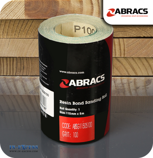 Abracs Resin Bond Sanding Roll 5 Metres - 100 Grit