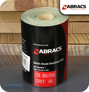 Abracs Resin Bond Sanding Roll 5 Metres - 60 Grit
