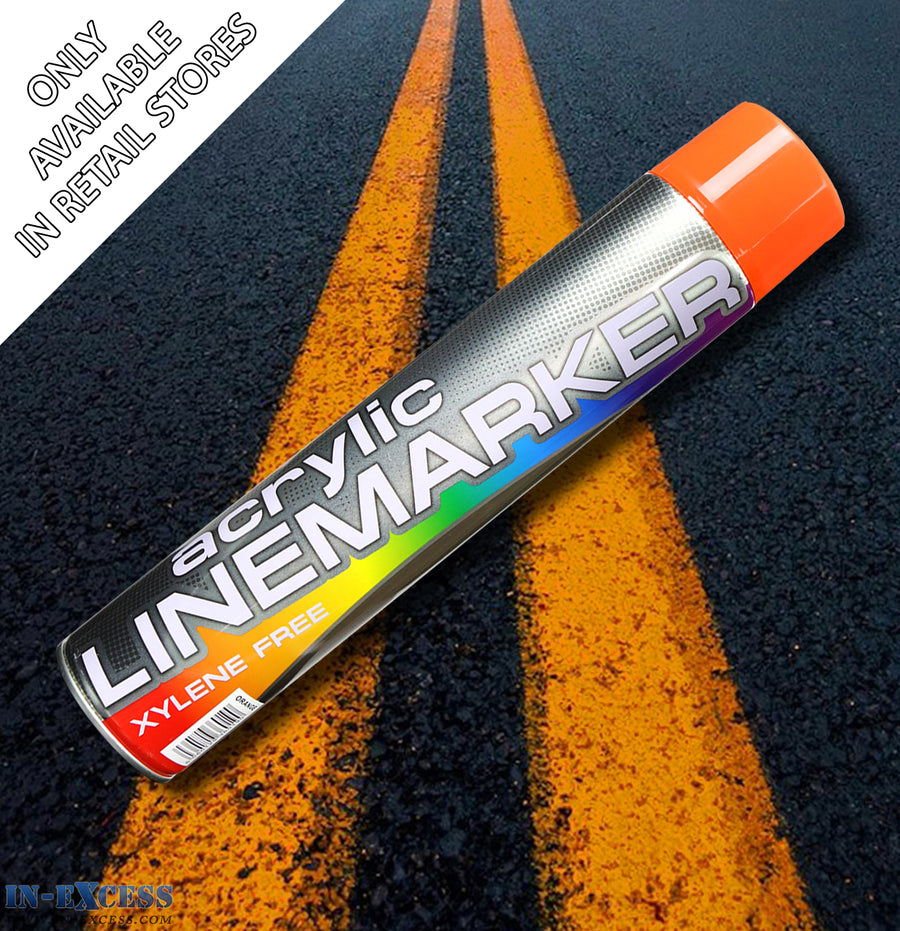 Acrylic Traffic Line Marking Paint 750ml - Orange
