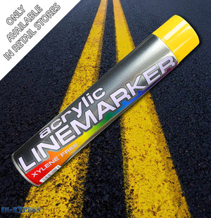 Acrylic Traffic Line Marking Paint 750ml - Yellow