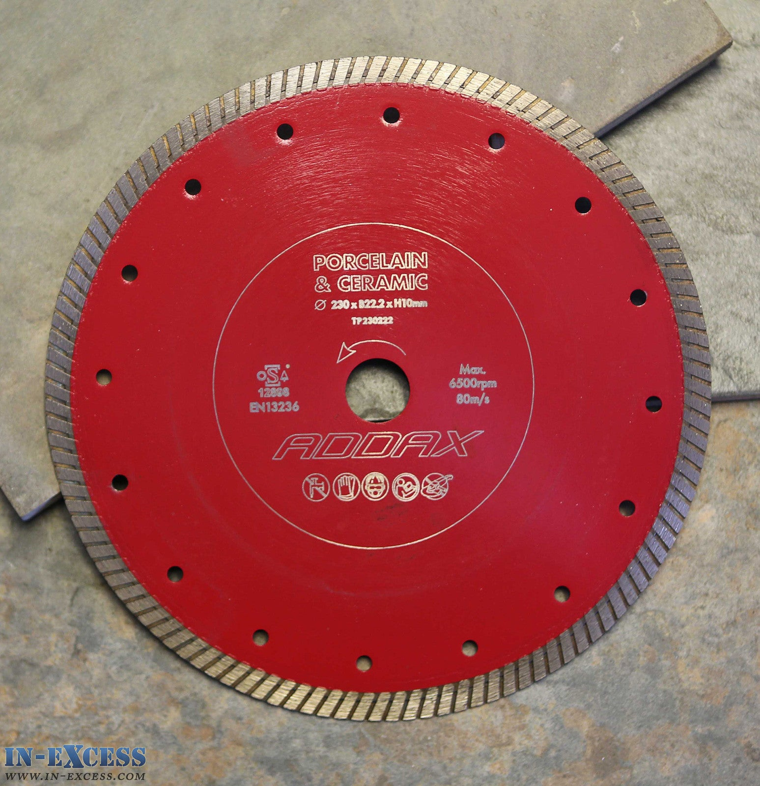Saws cutting discs blades in excess direct addax timco porcelainceramic tile cutting saw blade 230 x 222 x 1mm keyboard keysfo Images