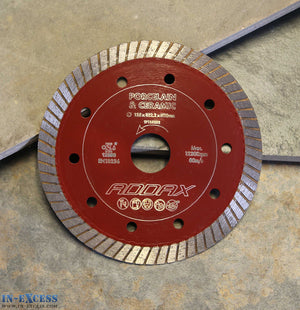 ADDAX TIMCO Porcelain/Ceramic Tile Cutting Saw Blade 125 x 22.2 x 1mm