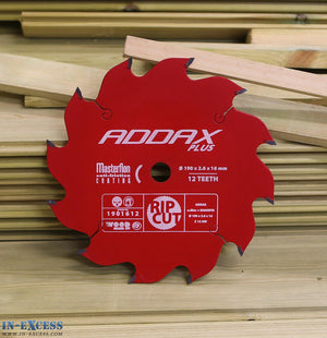 ADDAX TIMCO Plus Tungsten Carbide Wood Circular Mitre Saw Blade 190 x 2.6 x 16mm 12 Teeth