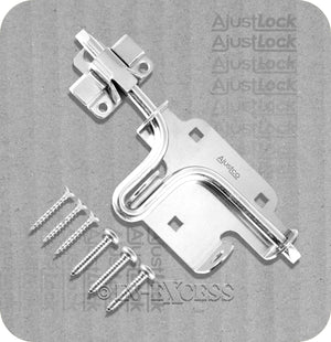 "Ajustco AjustLock Zinc Plated Heavy Duty Adjustable Slide Bolt - 175mm (7"")"