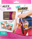 Alex Toys DIY Sew Corky Uni Zebra Bag Charms crafting kit