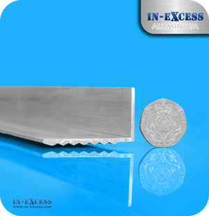 Aluminium Drilled Step Edging HC6061 Mill Finish - 40 x 23 x 1.5mm