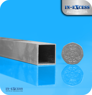 Aluminium Square Tube HC6061 Mill Finish - 20 x 20 x 1mm
