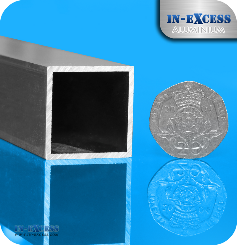 Aluminium Square Tube HC6061 Mill Finish - 25 x 25 x 1.5mm