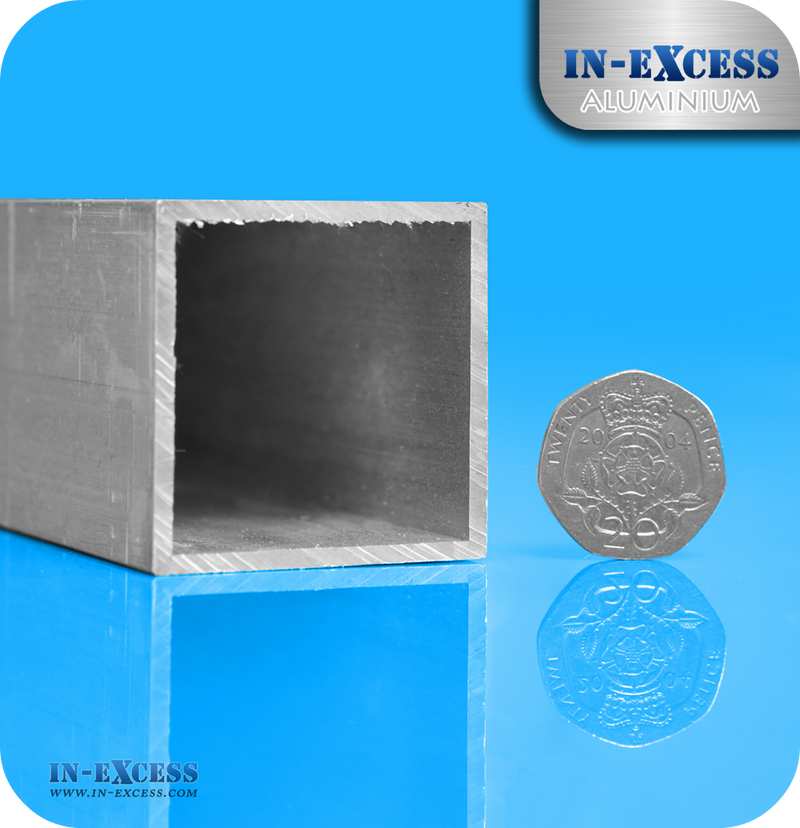 Aluminium Square Tube HC6061 Mill Finish - 40 x 40 x 2mm