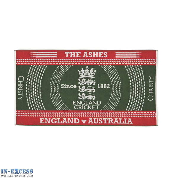 Official Christy The Ashes 2015 Memorabilia Bath Towels Green Cricket Beach ECB