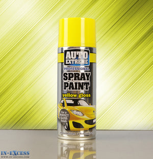 Auto Extreme Professional Spray Paint - Gloss Yellow 400ml