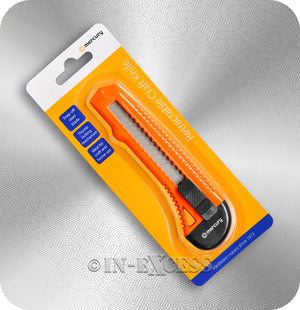 AVSL Mercury Snap-Off Retractable Craft Utility Knife - Orange
