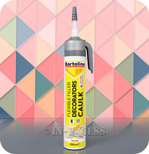 Bartoline Flexible Gun Free Operation Decorators Caulk Filler White - 200ml