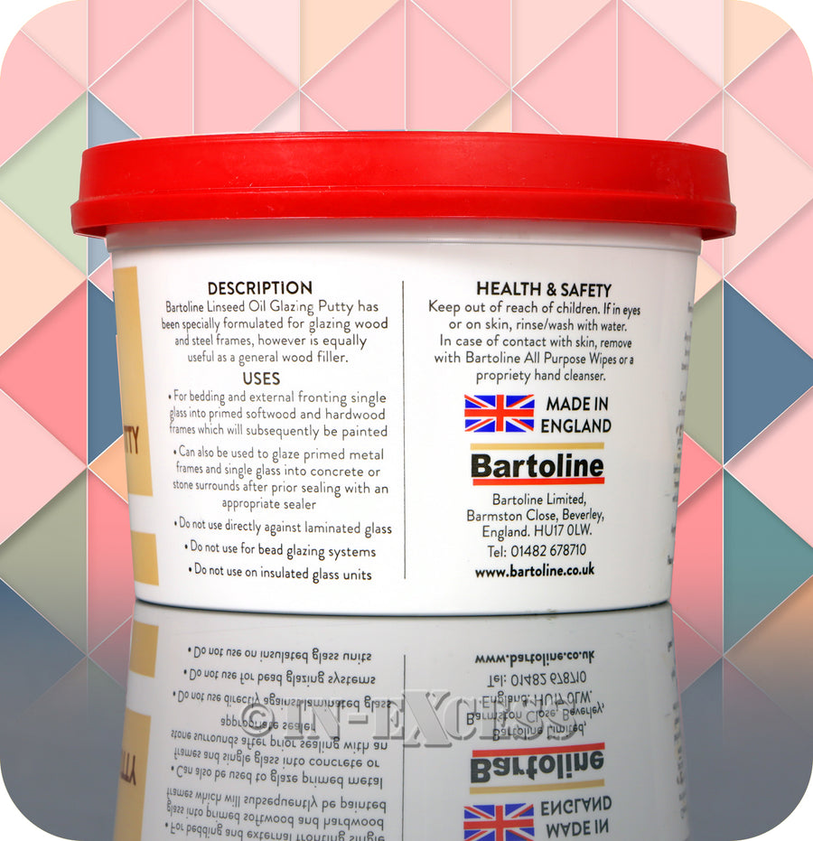 Bartoline Multi-Purpose Natural Linseed Oil Glazing Putty - 1kg