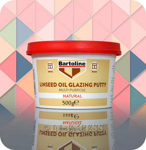 Bartoline Multi-Purpose Natural Linseed Oil Glazing Putty - 500g
