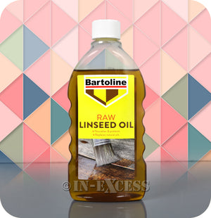 Bartoline Natural Oil Replacement Raw Linseed Oil - 500ml