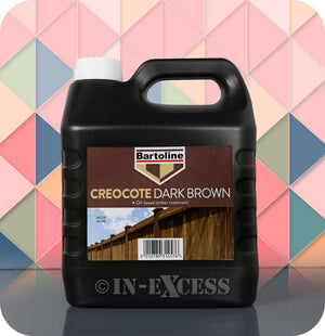 Bartoline Oil Based Timber Stain Creocote Dark Brown - 4 Litres