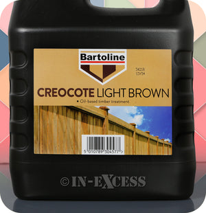 Bartoline Oil Based Timber Stain Creocote Light Brown - 4 Litres