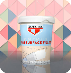 Bartoline Ready Mixed Fine Surface White Smooth Filler - 600g