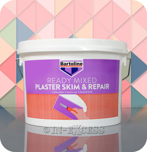 Bartoline Ready Mixed Plaster Skim & Repair Smooth White Filler - 2.5 Litres