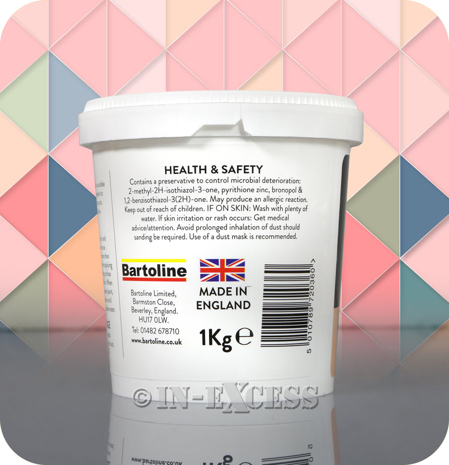 Bartoline Ready Mixed Ready To Use All Purpose Surface White Smooth Filler - 1kg