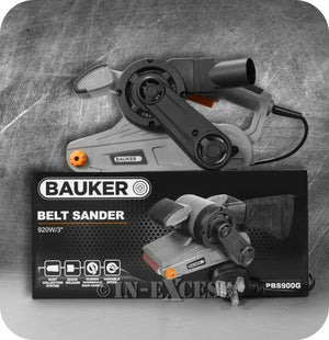 "Bauker Electric Belt Sander Power Tool 920W  3"" Belt  - 230V - 240V"
