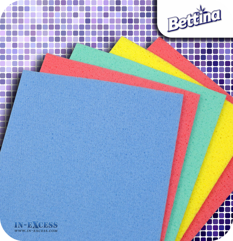 Bettina Cellulose Sponge Cloths - Pack of 5