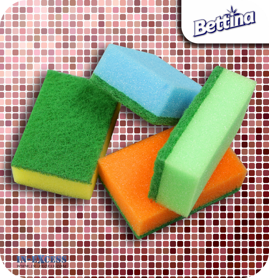 Bettina Sponge Scourers Assorted Colours - Pack of 20