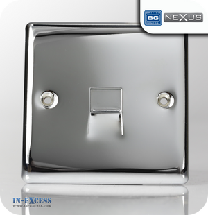 BG Nexus Metal Secondary Telephone Socket - Polished Chrome