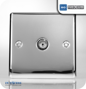 BG Nexus Metal Single TV Co-axial Socket - Polished Chrome