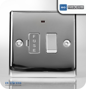 BG Nexus Metal Switched Fused Connection Unit with Neon - Polished Chrome