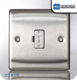 BG Nexus Metal Unswitched Fused Connection Unit - Brushed Steel