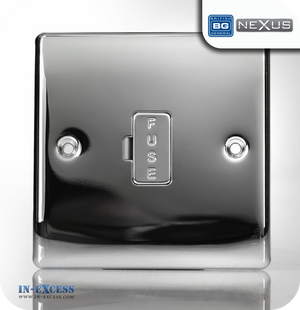 BG Nexus Metal Unswitched Fused Connection Unit - Polished Chrome