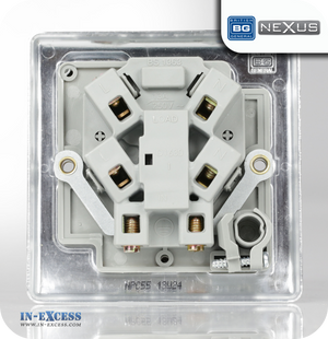 BG Nexus Metal Unswitched Fused Connection Unit with Cable Outlet - Polished Chrome